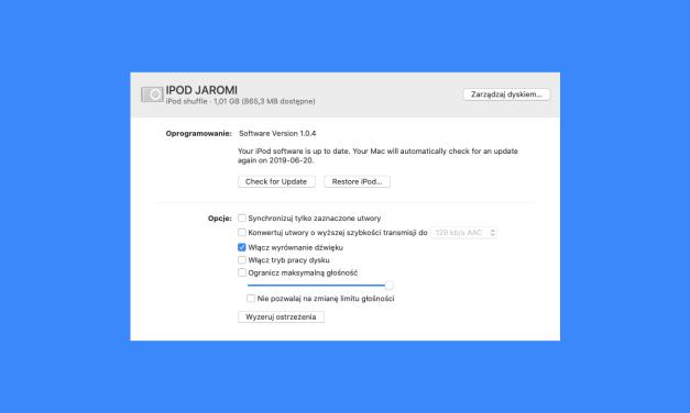 Martwicie się o stare iPody w macOS 10.15 Catalina?