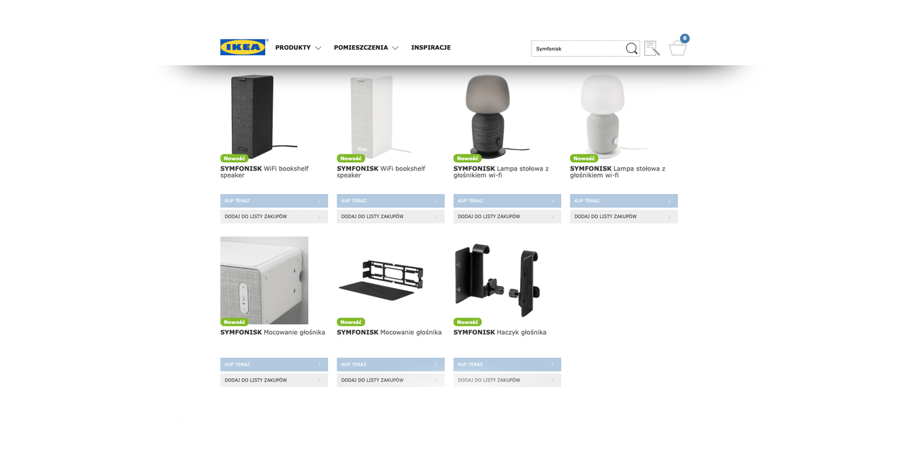 Głośniki Symfonisk AirPlay 2 od Ikei już (prawie) dostępne w Polsce