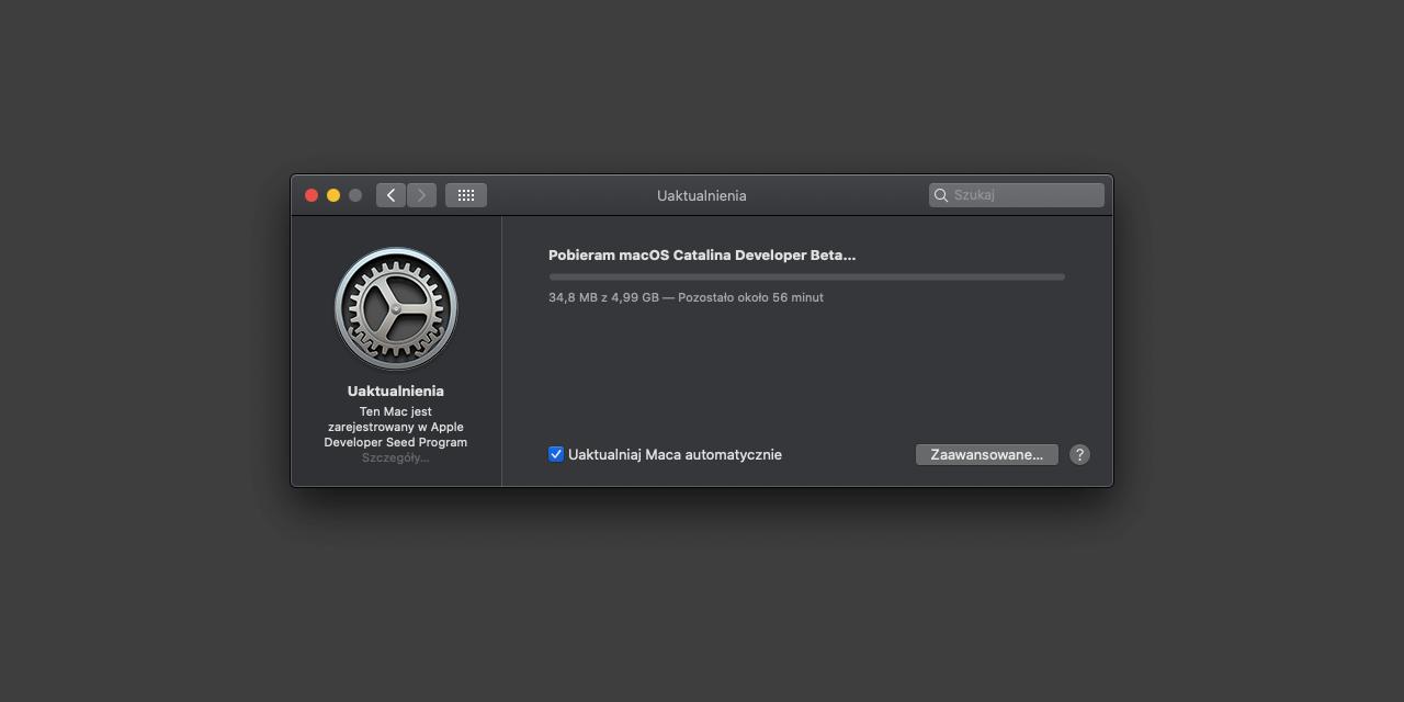 macOS Catalina 10.15 Beta 9 w rękach deweloperów