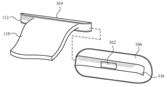 Apple Watch antena w pasku, interfejs