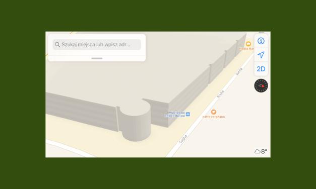 """Pierwsze obiekty """"3D"""" w mapach Apple w Polsce?"""