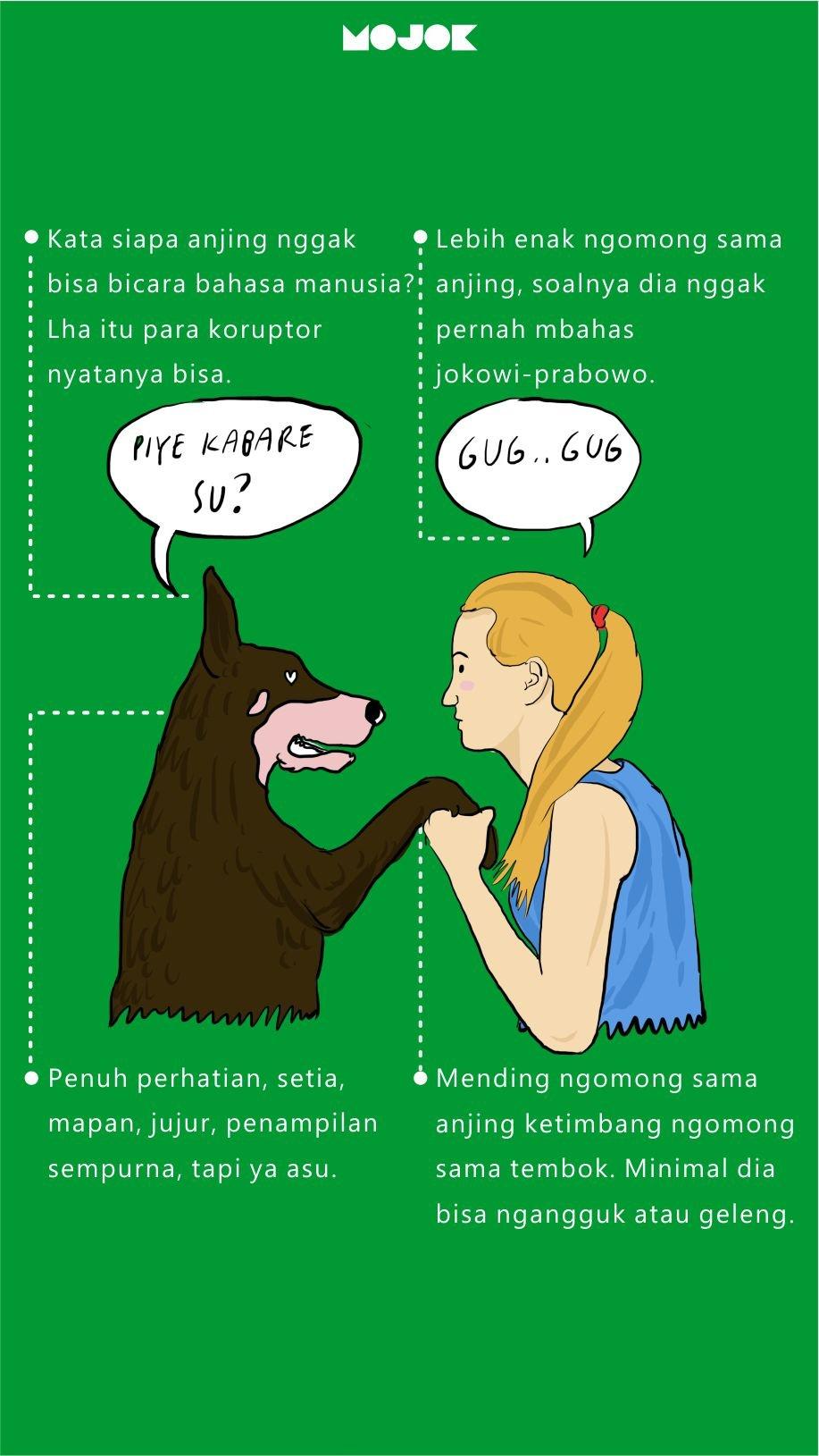 Berbicara dengan anjing