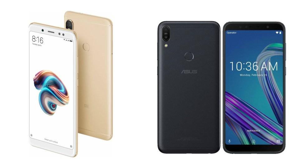 Redmi Note 5 (kiri) vs Asus Zenfone Max Pro M1 (kanan)