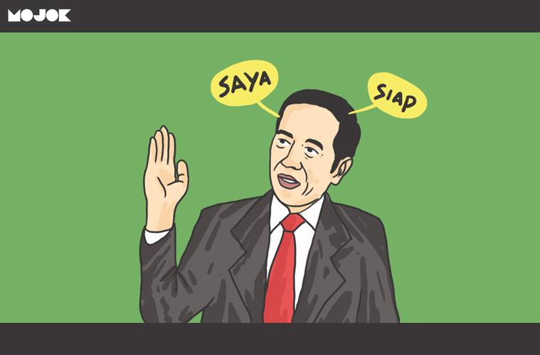 Jokowi tes baca Alquran MOJOK.CO