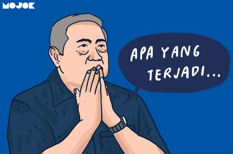 baliho demokrat SBY KLB sumur partai demokrat dualisme kepemimpinan moeldoko ahy ketua umum perpecahan partai pembajakan partai sejarah mojok.co