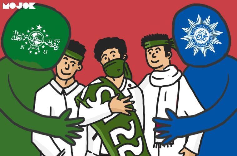 NU dan Muhammadiyah Sepakat Melarang Warganya Ikut Aksi 22 Mei Mojok