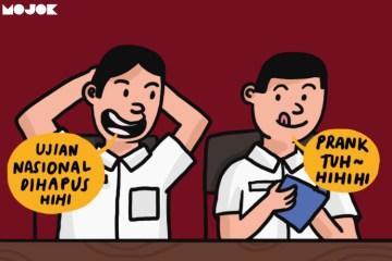 ujian nasional dihapus un dihapus nadiem makarim menteri pendidikan kebijakan baru Asesmen Kompetensi Minimum dan Survei Karakter mojok.co