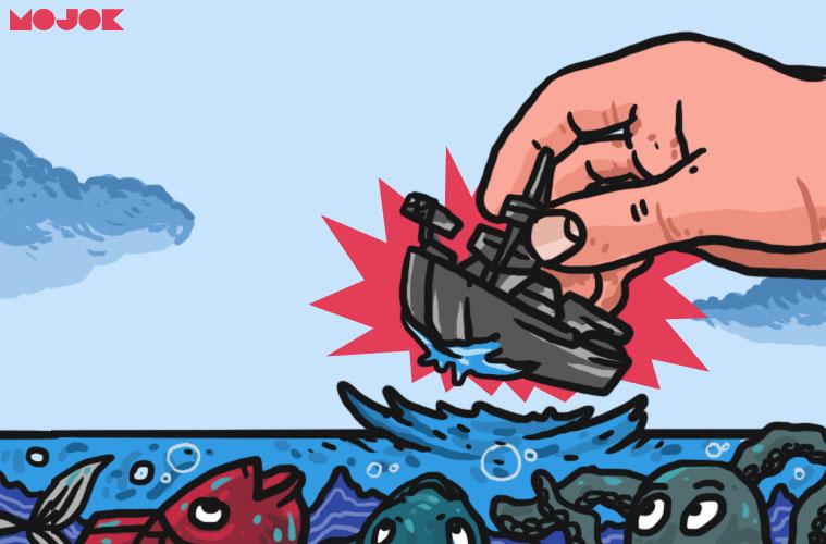 natuna china indonesia kapal perang harga minyak perang pbb unclos mojok.co
