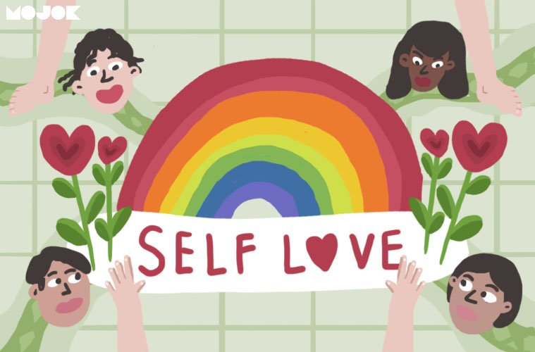 definisi self love body positivity tara basro gerald weird genius mencintai diri sendiri gendut obesitas kurus selulit stretch marks ashley graham jerawatan skoliosis standar kecantikan mojok.co
