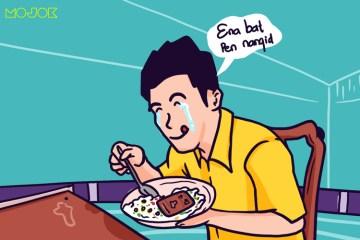 diksi selebgram kuliner review makanan enak banget mau nangis mau meninggal mukbang bondan winarno mak nyus mojok.co