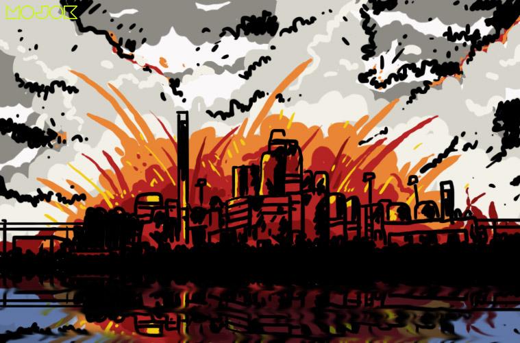 Kilang Minyak Pertamina Indramayu Terbakar Hebat, Netizen Beramai-Ramai Mengirimkan Doa MOJOK.CO
