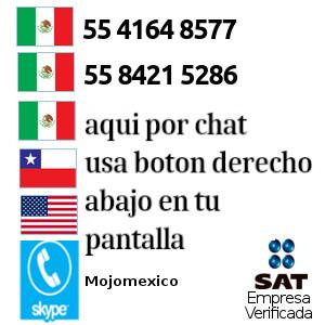 Telefonos Mojomexico en Mexico, Chile y USA