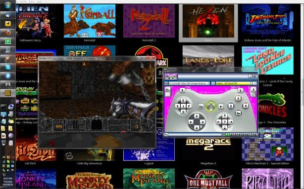 DOSBox Running Hexen With 360 Gamepad | MojoRisingZA
