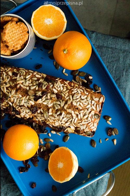 Chlebek dyniowo - pomarańczowy