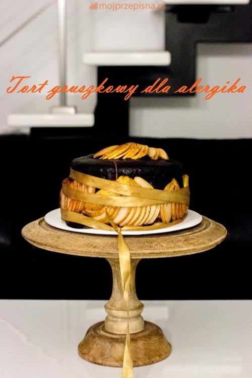 Tort gruszkowy dla alergika