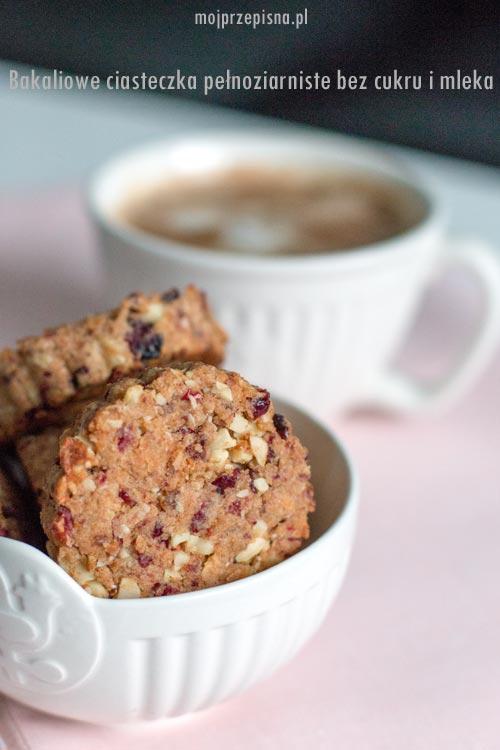 Bakaliowe ciasteczka pełnoziarniste bez cukru i mleka