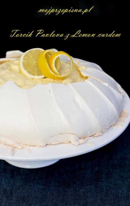 Torcik Pavlova z Lemon curdem