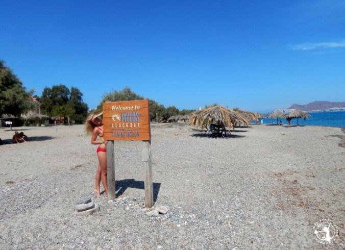 Mój Punkt Widzenia Blog - Lambi Beach, plaża kamienista, Kos, Grecja