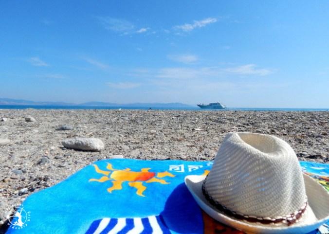 Mój Punkt Widzenia Blog - opalanie na Lambi Beach, Grecja, Kos
