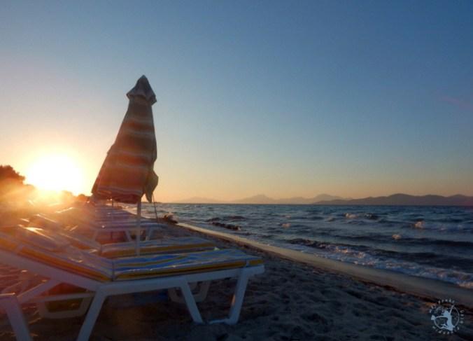 Mój Punkt Widzenia Blog - odpoczynek i zachód słońca na Tigaki Beach, Kos