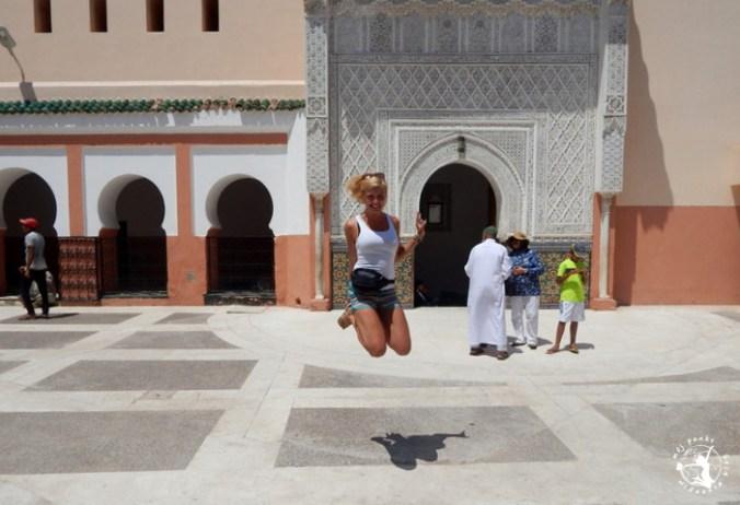 Mój Punkt Widzenia Blog - skok, Minaret w Marrakeszu