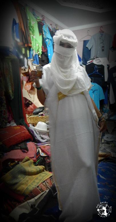Mój Punkt Widzenia Blog - tradycyjna burka i hidżab, Marrakesz