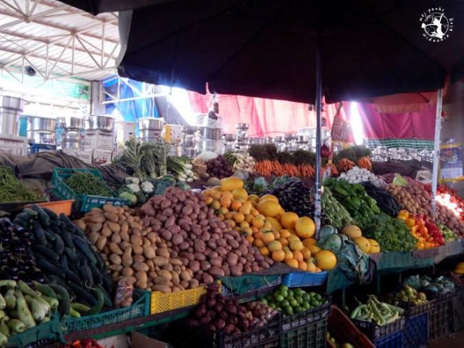 Mój Punkt Widzenia Blog - świeże warzywa na bazarze w Agadirze