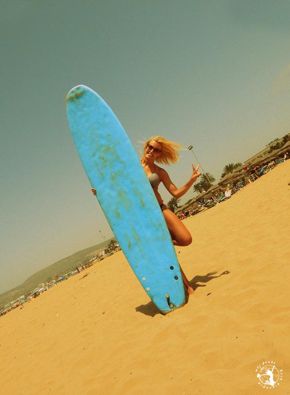 Mój Punkt Widzenia Blog - plaża i surfowanie w Agadirze, Maroko