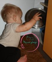 kuhanje, igra, dojenček
