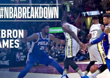 LeBron James #NBABreakdown | Through the Legs Plays
