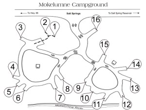 Mokelumne Kampground Map