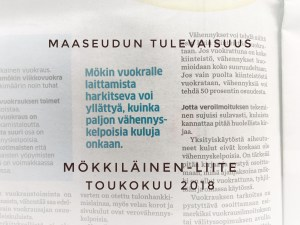 Mökkiläinen-liite toukokuu 2018
