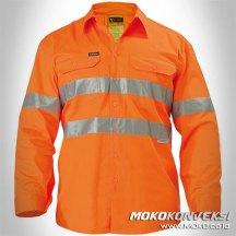 Jual Wearpack Safety Tambang Teknik Kelistrikan Model Standar Baju Kerja Lapangan Warna Orange Polos Scotchlite Reflektor