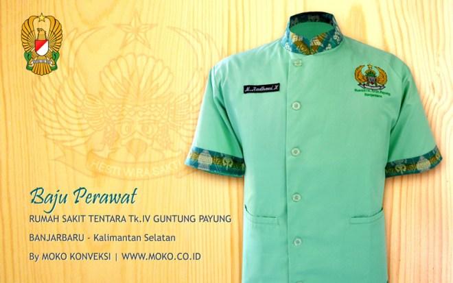 Model Baju Perawat Rumah Sakit TK.IV Guntung Payung Banjarbaru Kalimantan Selatan Indonesia