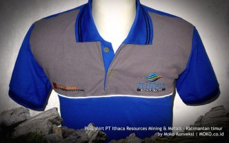 kaos polo shirt tambang pt ithaca resources
