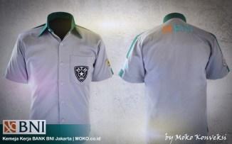seragam BNI Jakarta desain kemeja modern untuk seragam perbankan