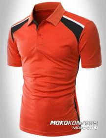 jual kaos seragam desain kaos polo shirt sporty warna merah depan moko konveksi