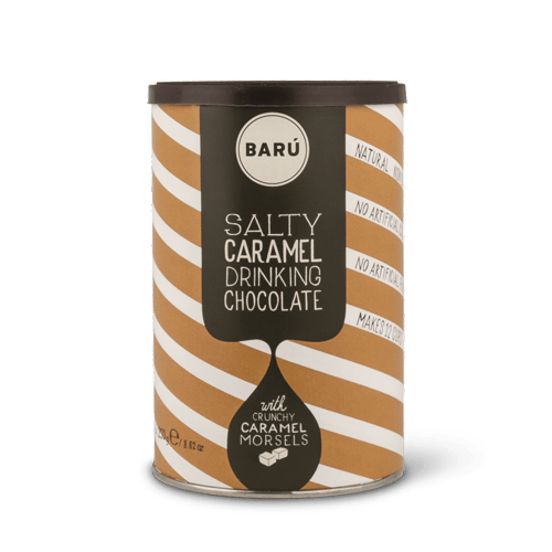 Barú salty caramel drinking chocolate powder