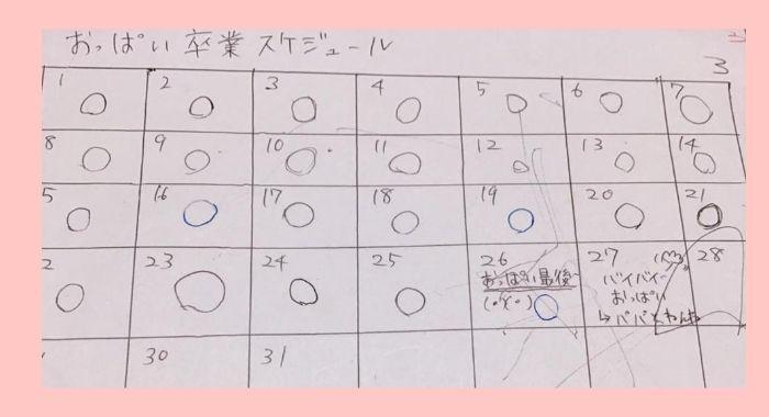 卒乳カレンダー