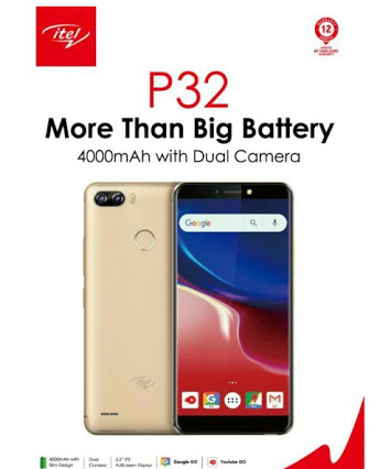 Itel P32 Specifications and Price