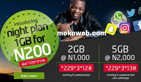 9Mobile night plans n200 for 1gb