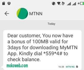 Mymtn app free 100mb data