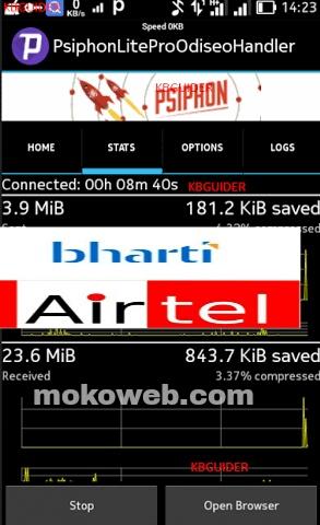 Psiphon Bharti airtel india free internet trick