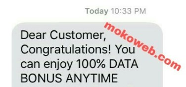 Airtel bonus data congratulations