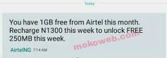 Free 1gb airtel data