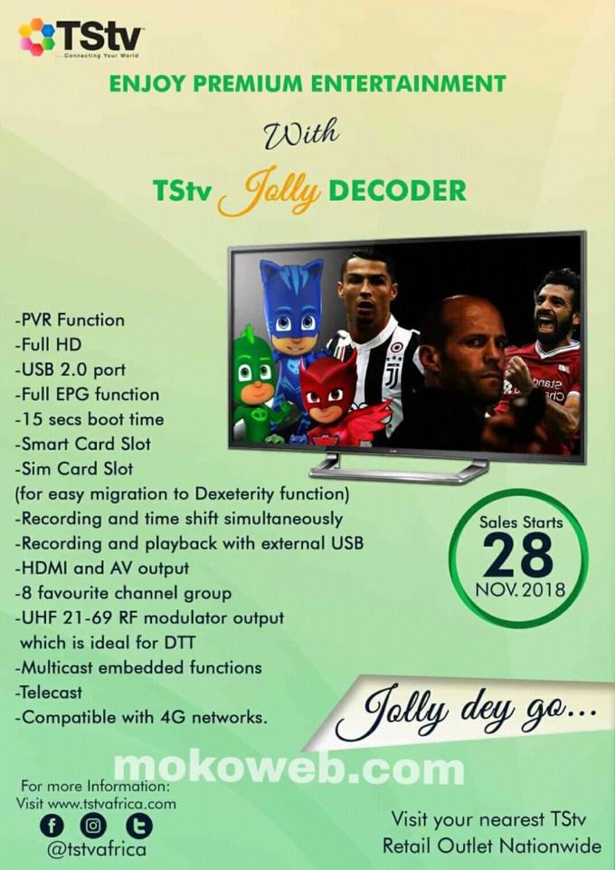 TStv jolly Decoder features