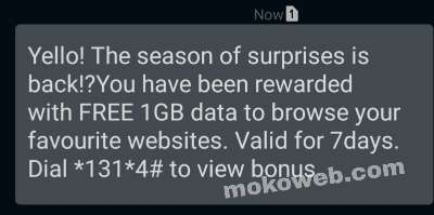 MTN season of surprise free data