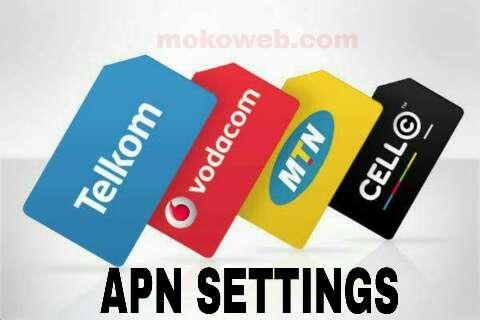 APN settings MTN, cell C, Vodafone, Telkom South Africa