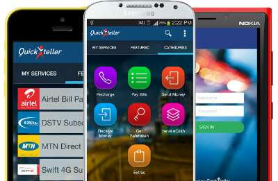 Quickteller app for android, iOS, windows