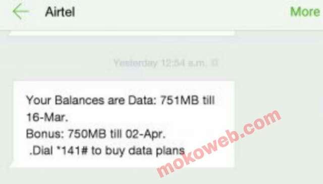 Airtel data bonus